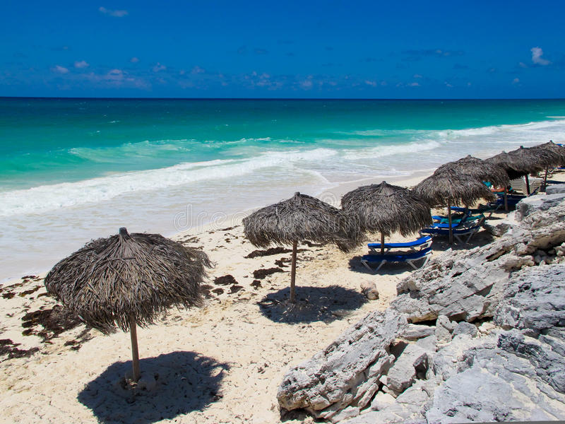 海滩blanca缓慢地cayo古巴playa 图库摄影
