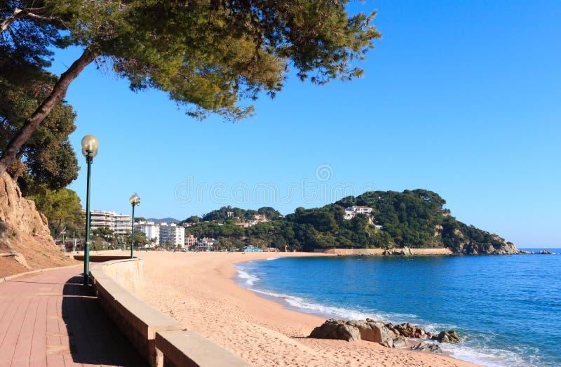 海滩brava肋前缘fenals西班牙 免版税库存照片