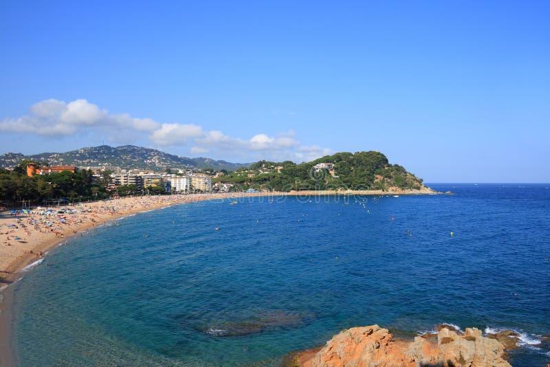 海滩brava肋前缘fenals西班牙 免版税库存图片