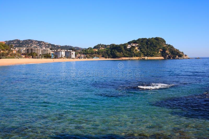 海滩brava肋前缘fenals西班牙 库存图片