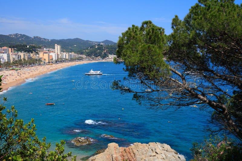 海滩brava costa de lloret 3月西班牙 库存照片