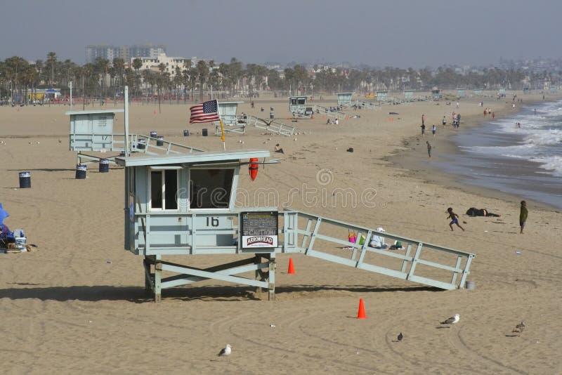 海滩calif场面 免版税库存照片