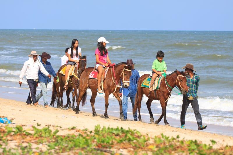 海滩cha petchaburi泰国 库存照片