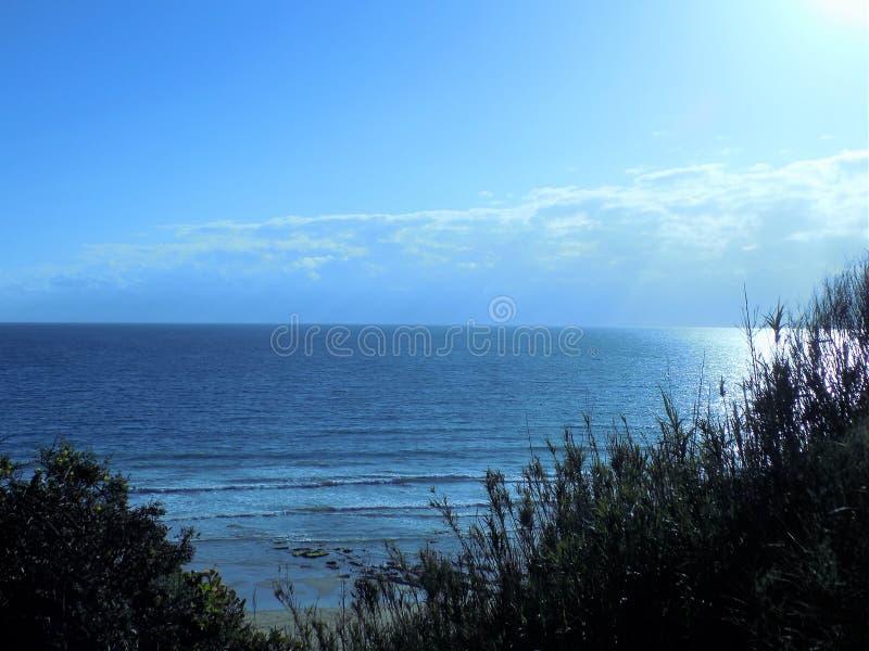 海滩CONIL DE LA弗隆特里安大路西亚 免版税库存图片