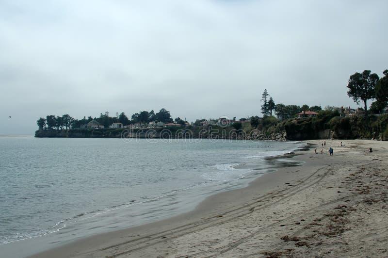 海滩cruz圣诞老人 图库摄影