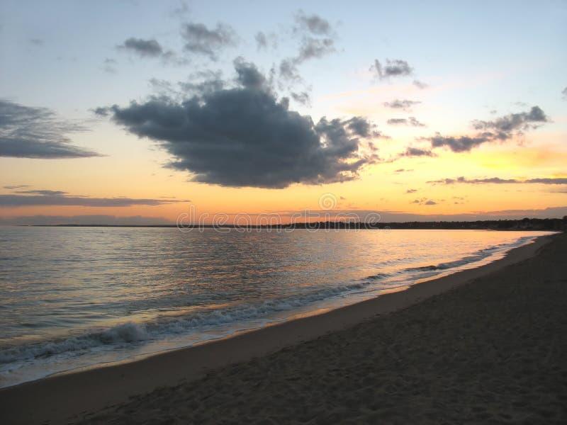 海滩ct日落 图库摄影