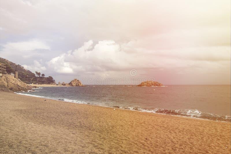 海滩de 3月tossa 免版税库存照片