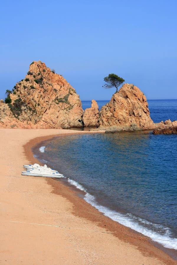 海滩de 3月tossa 库存图片