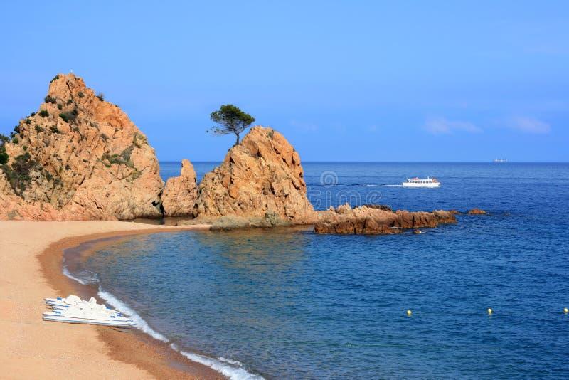 海滩de 3月tossa 库存照片