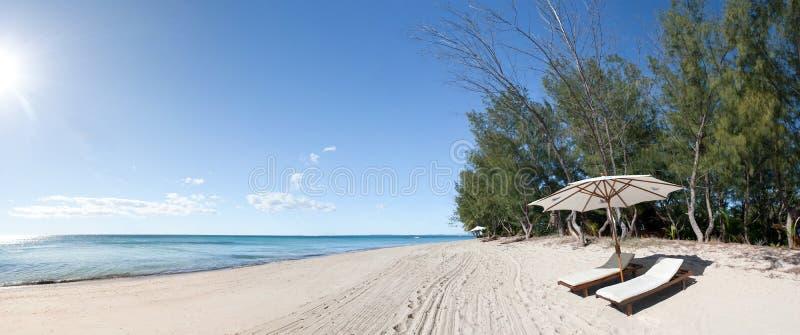 海滩deckchair 库存图片