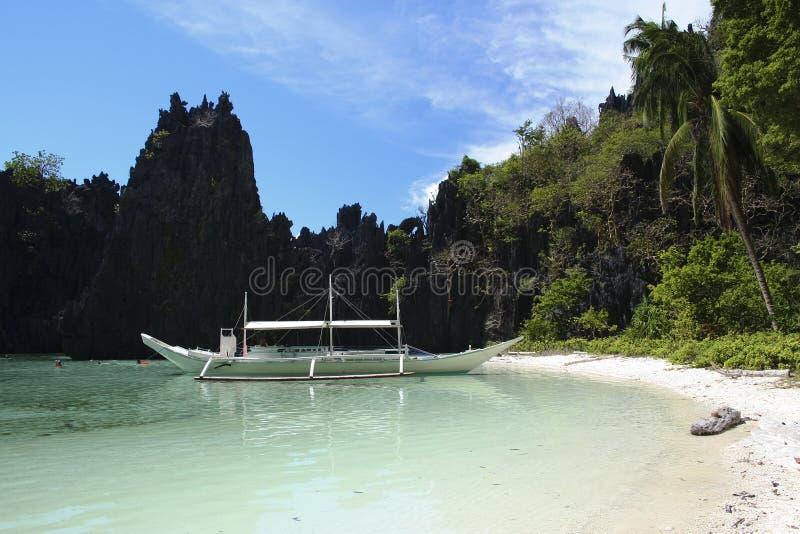 海滩el nido palawan菲律宾 库存照片