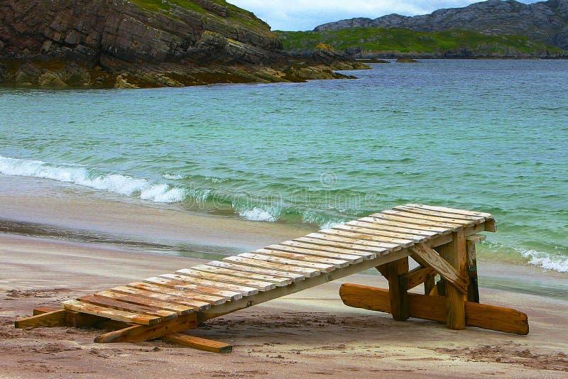 海滩handa海岛苏格兰 图库摄影