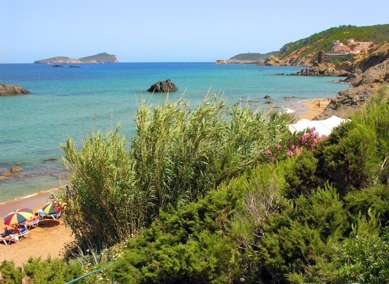 海滩ibiza s 库存照片