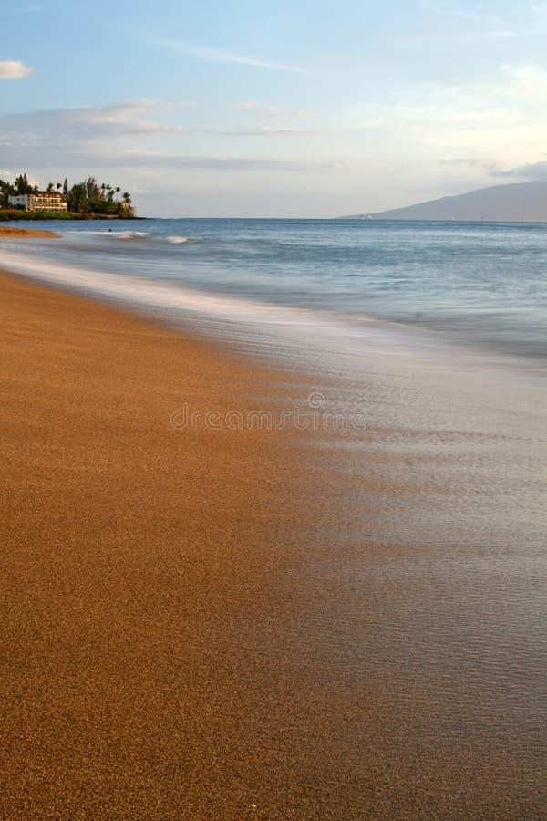 海滩kahana 库存照片
