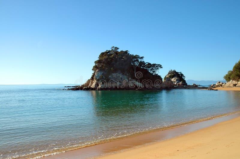 海滩kaiteriteri新西兰 库存图片