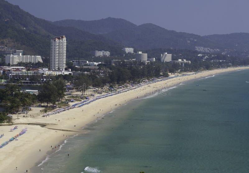 海滩karon泰国 免版税库存图片