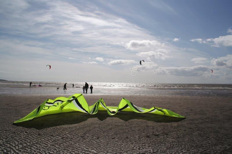 海滩kiteboard 库存照片