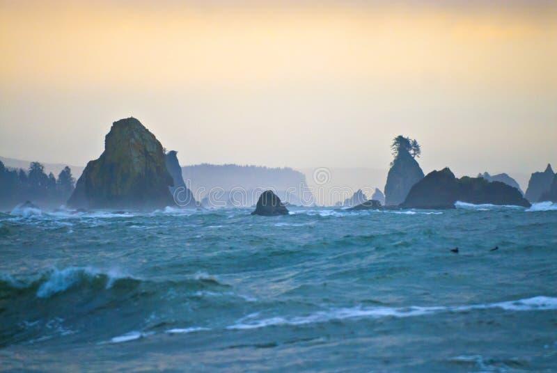 海滩la推进 图库摄影