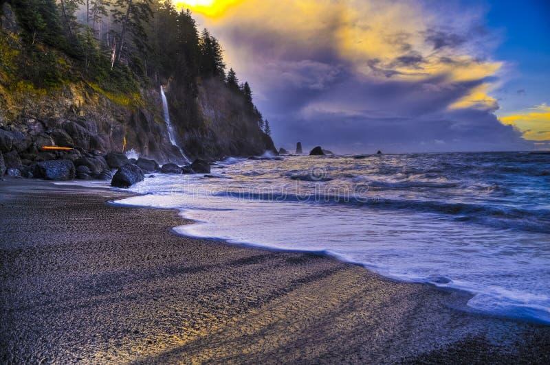 海滩la推进 免版税库存照片