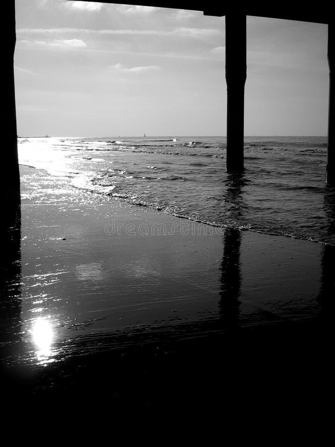 海滩scheveningen 免版税库存照片