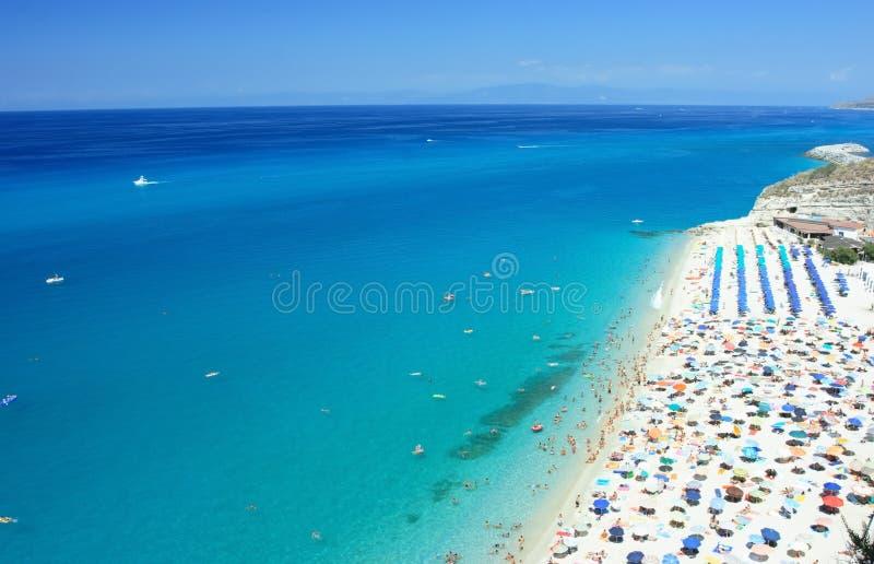 海滩tropea 免版税图库摄影