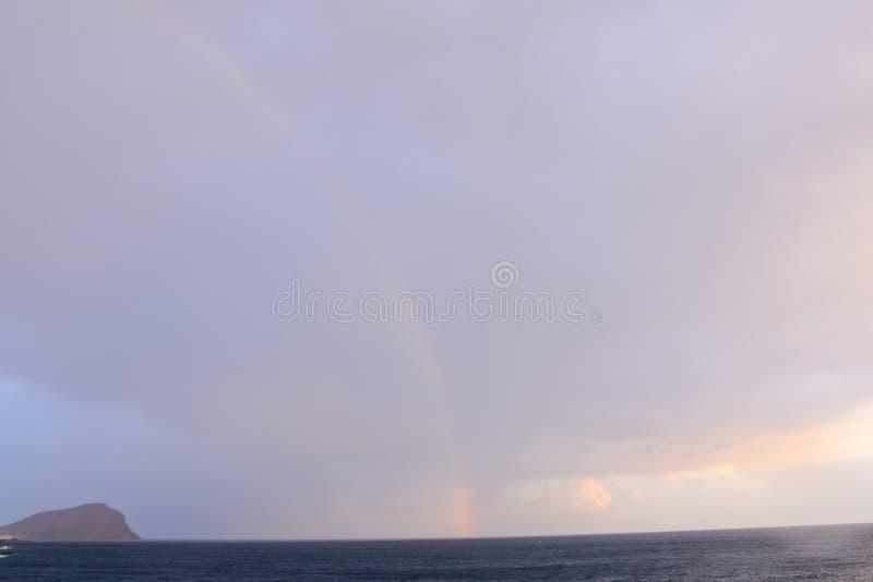 海热带日落 库存图片
