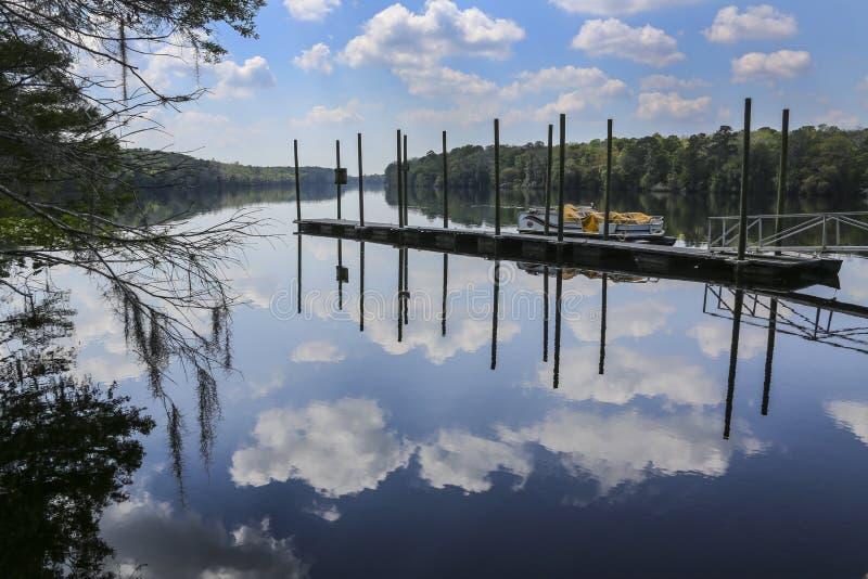 海牛Srpings船坞- Suwannee河 库存照片