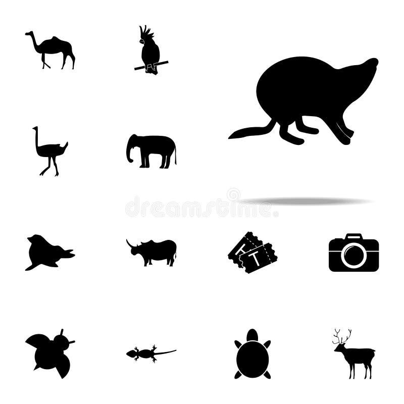 海狸剪影象 网和机动性的动物园象全集 向量例证
