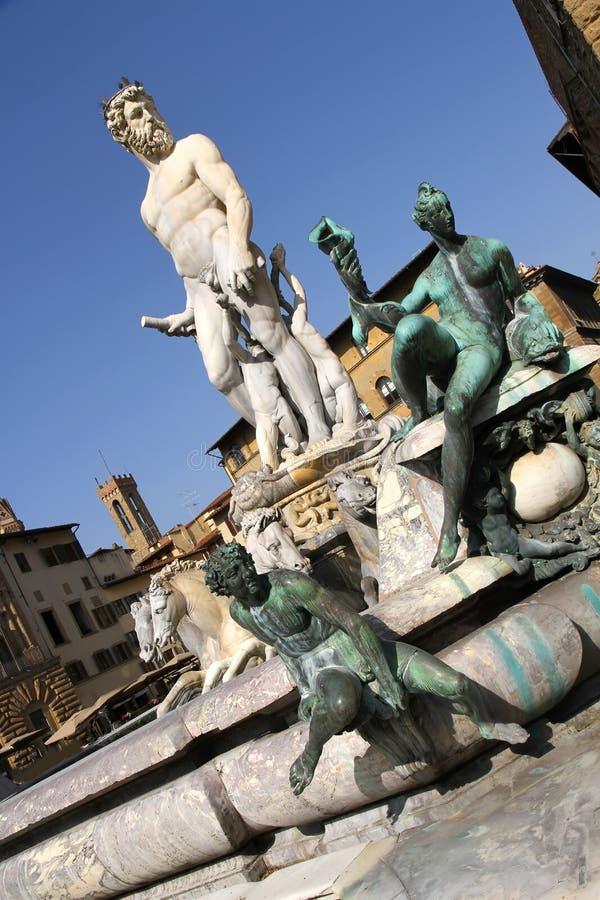海王星喷泉在佛罗伦萨 库存图片