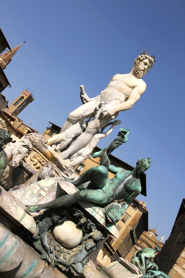 海王星喷泉在佛罗伦萨 图库摄影