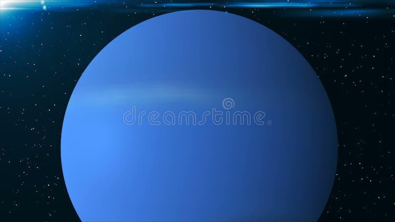 海王星行星 回报数字式背景的3d 空间背景 向量例证