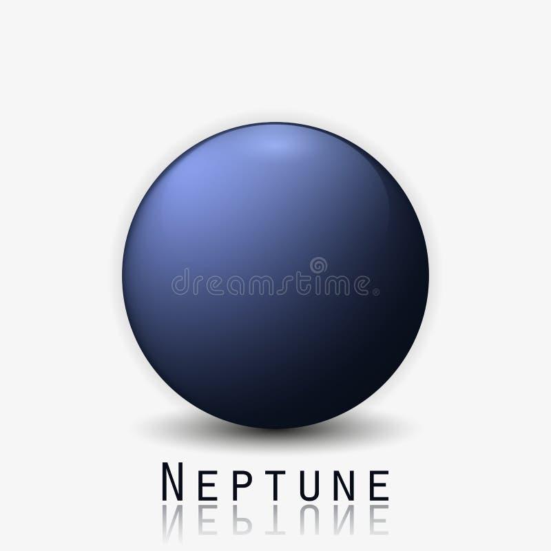 海王星行星3d传染媒介例证 库存例证