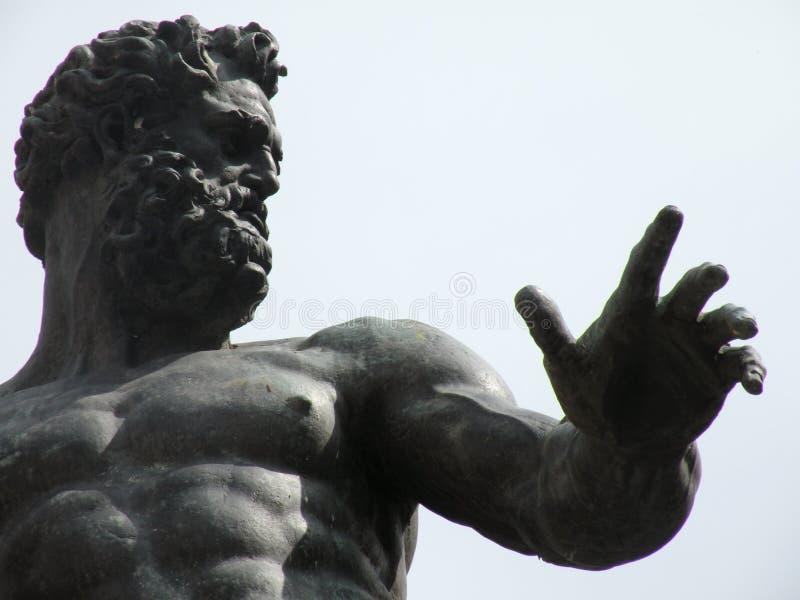 海王星雕象 免版税图库摄影