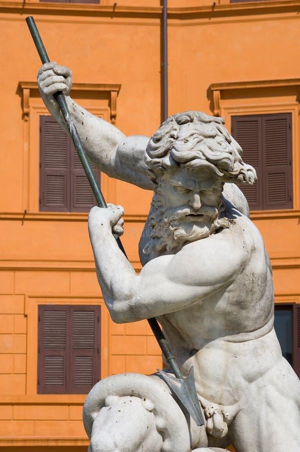 海王星雕象 免版税库存图片