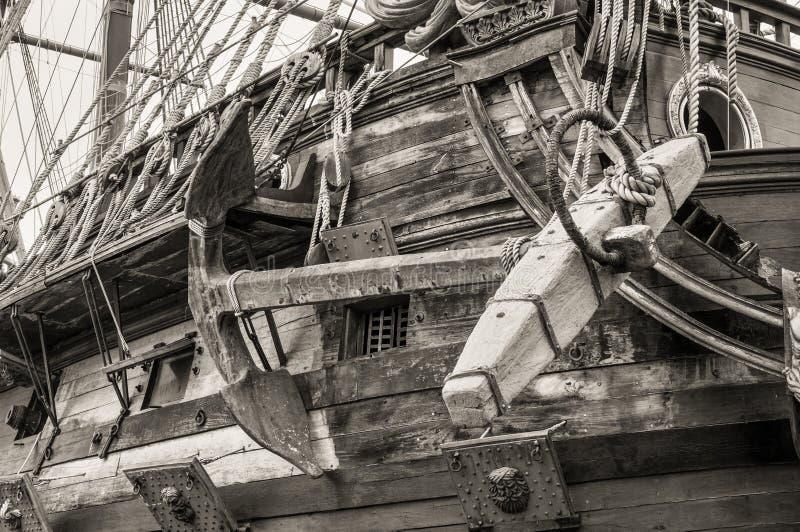 海王星Galleon商店细节在热那亚,意大利 免版税库存图片