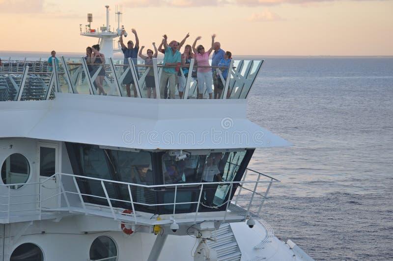海的乘客在机上MS魅力 库存图片