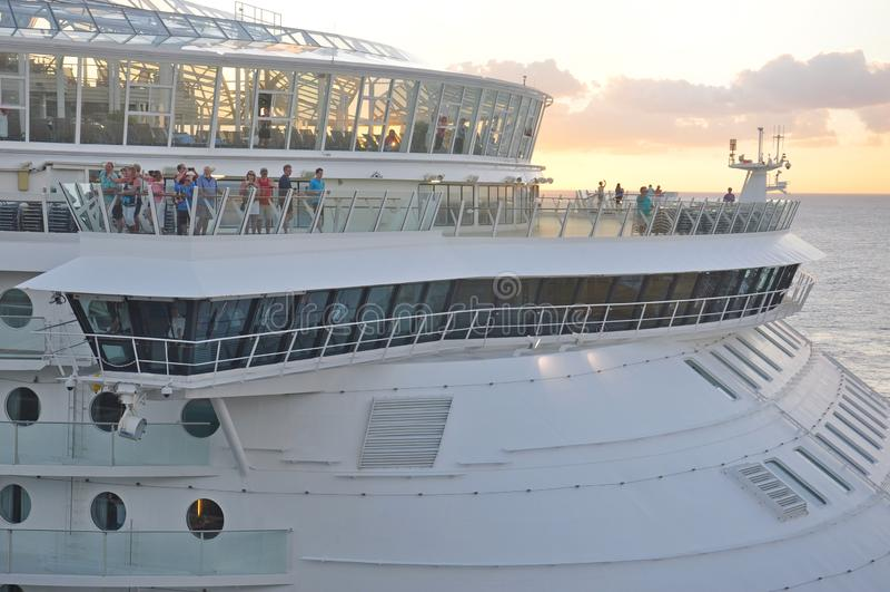 海的乘客在机上MS魅力 图库摄影