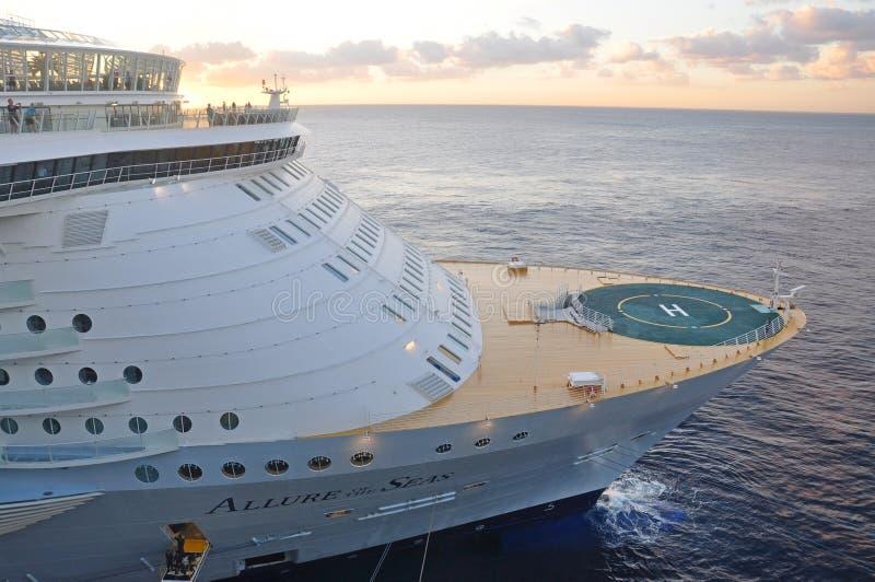海的乘客在机上MS魅力 免版税图库摄影