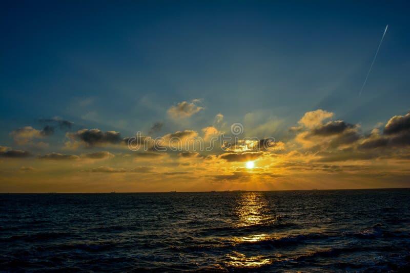 从黑海的日出 库存图片
