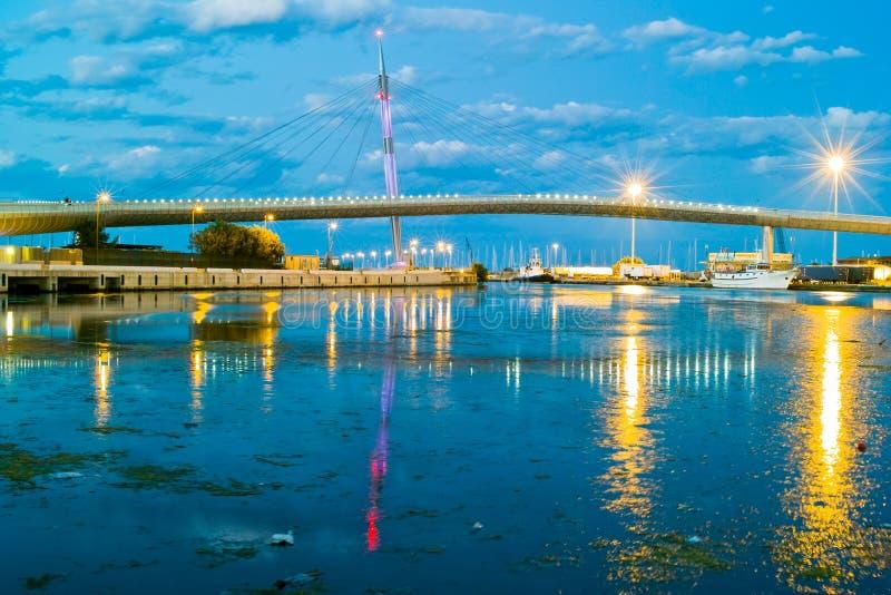 海的桥梁 库存图片