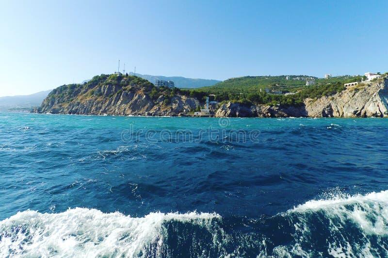 从黑海的看法海滨的 免版税图库摄影