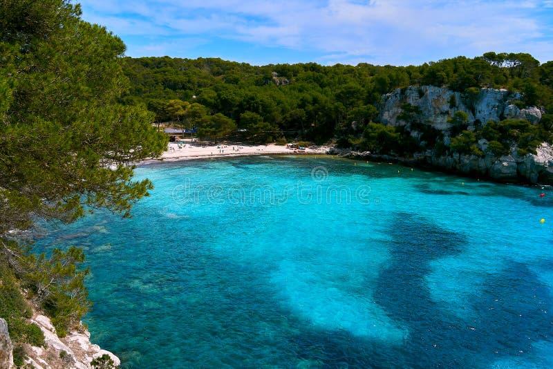 海的看法menorca的 免版税库存照片