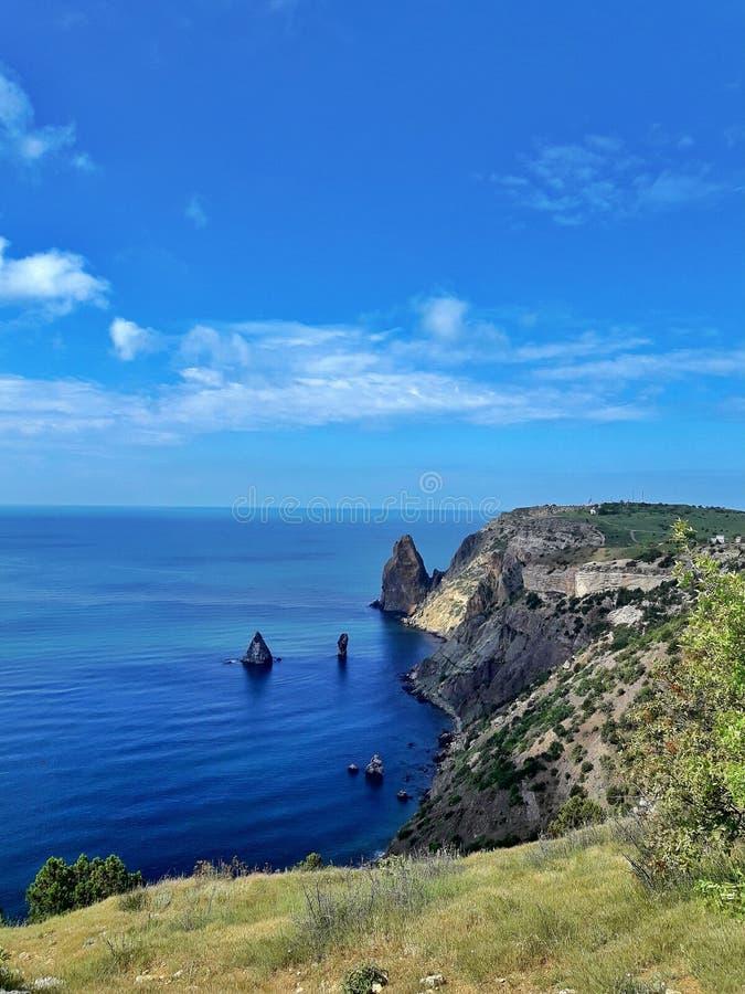 黑海的美丽的景色 免版税库存照片