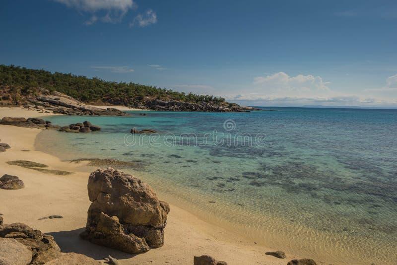 海的美丽的海岸在利泽德岛,澳大利亚 免版税库存图片