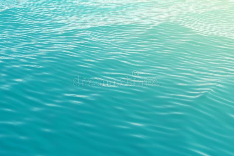 海的表面从上面的海景与波浪 3d例证 库存例证