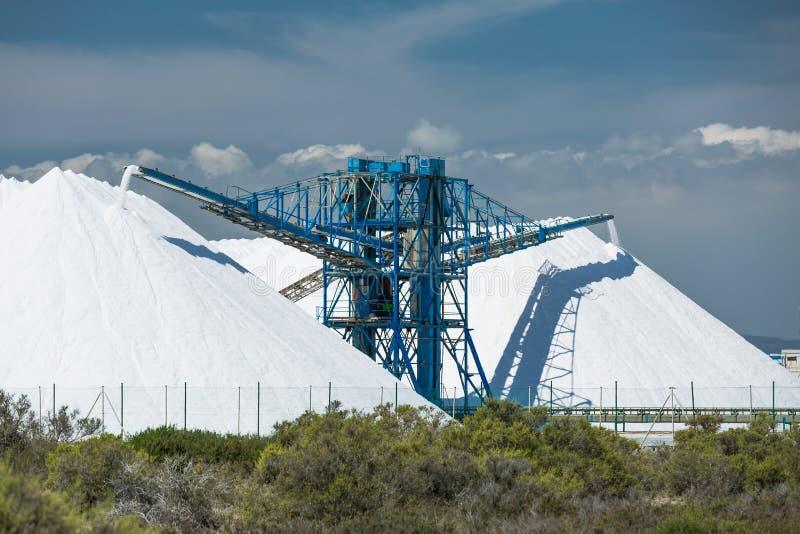 海盐产品和存贮 库存照片