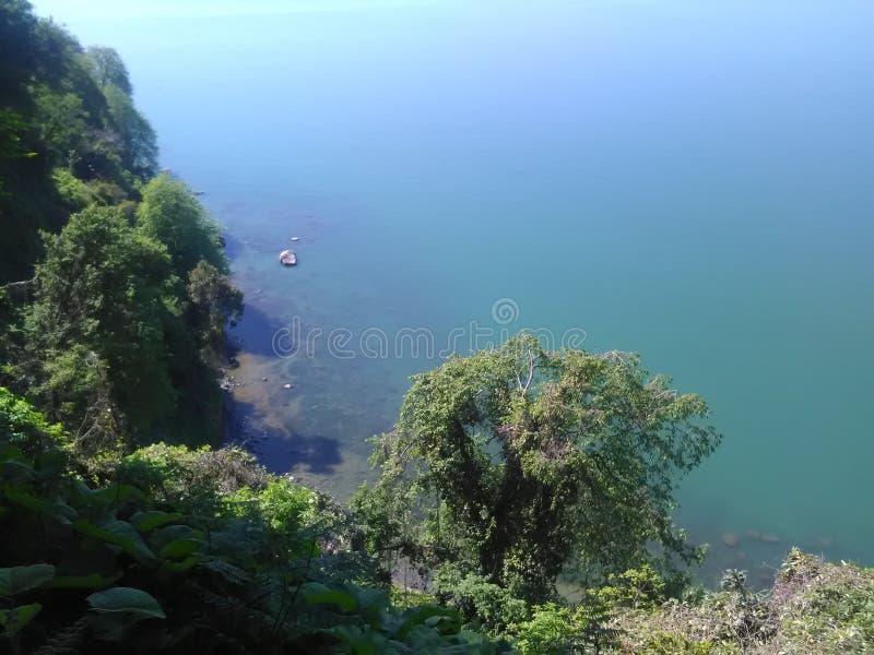 海盐水湖的美丽的景色 库存照片