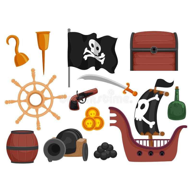 海盗元素 皇族释放例证