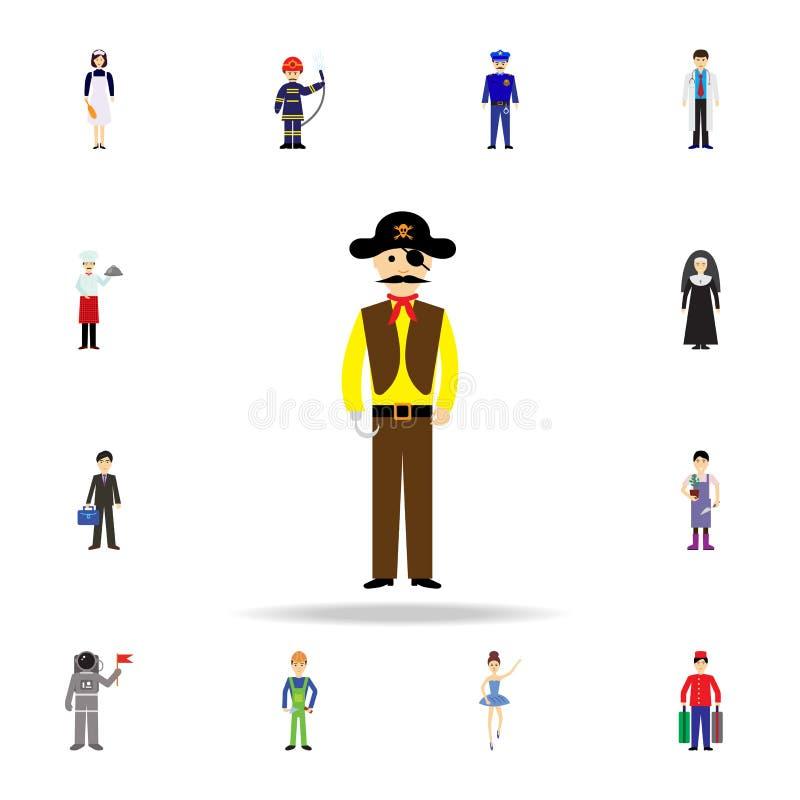 海盗动画片象 详细的套颜色行业象 优质图形设计 其中一个网站的汇集象,网 皇族释放例证