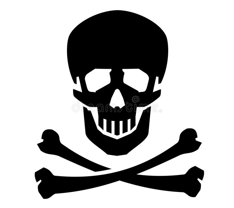 海盗旗传染媒介商标设计模板 人力 向量例证